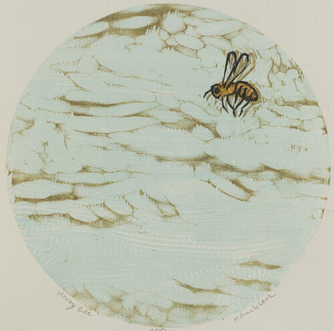 Honey Bee 16x16 | Woodblock Print
