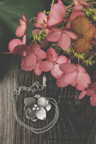 Double Hydrangea Necklace - Artisan's Bench