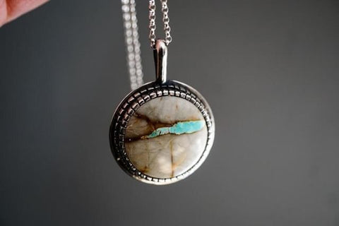 Boulder Turquoise Moon Medallion