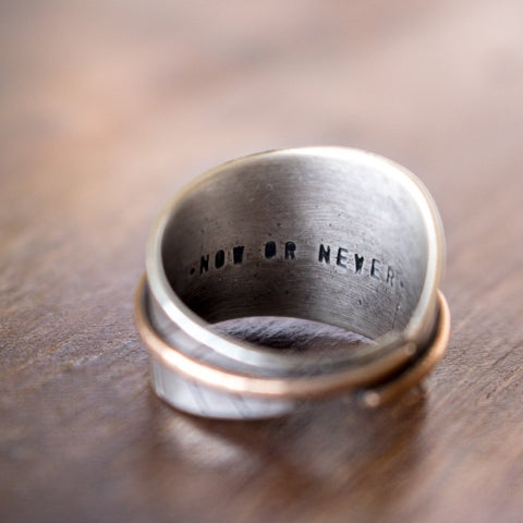Size 9.5 | Now or Never Bronze Feather Ring - Artisan's Bench