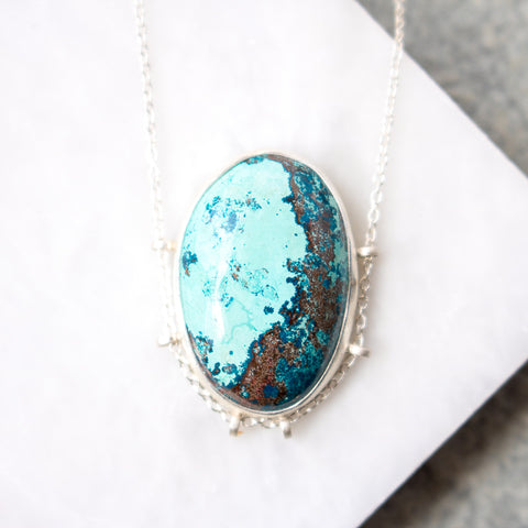 Chrysocolla Oval Necklace