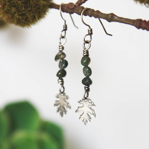 Leaf Earrings with Beads - Artisan's Bench