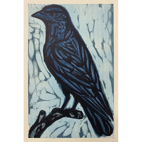 Little Crow 11x14 | Woodblock Print