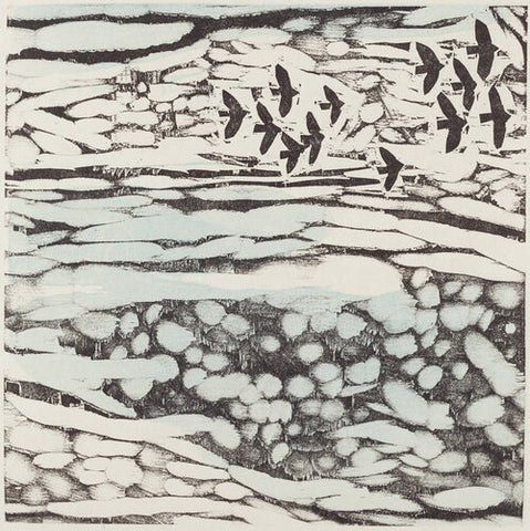 Little Skyscape 16x16 | Woodblock Print