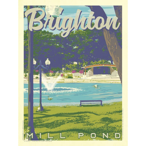 Brighton Mill Pond Print (AB Exclusive) | 11x14