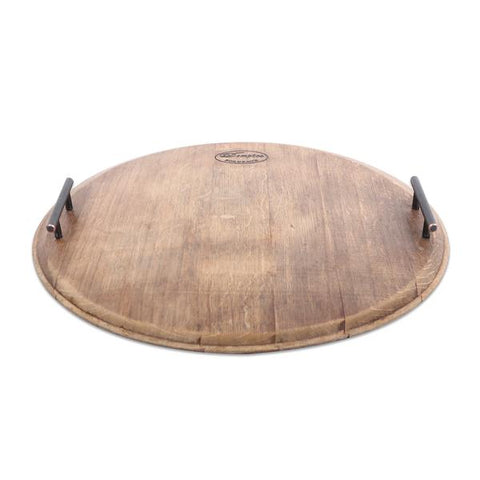 Wine Barrel Round Tray