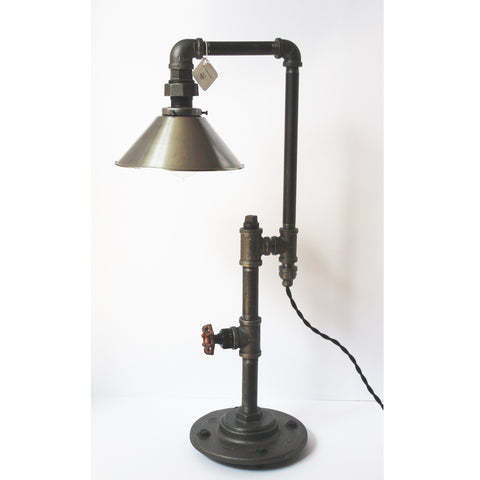 Edison Table Lamp with Steel Shade - Artisan's Bench