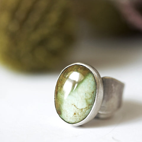 Turquoise Pebble Ring - Artisan's Bench