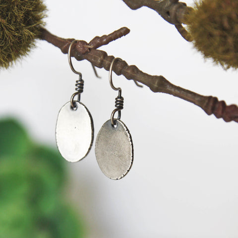 Silver Slab Earrings - Artisan's Bench
