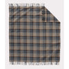 Eco-Wise Wool Throw | Smoke Plaid