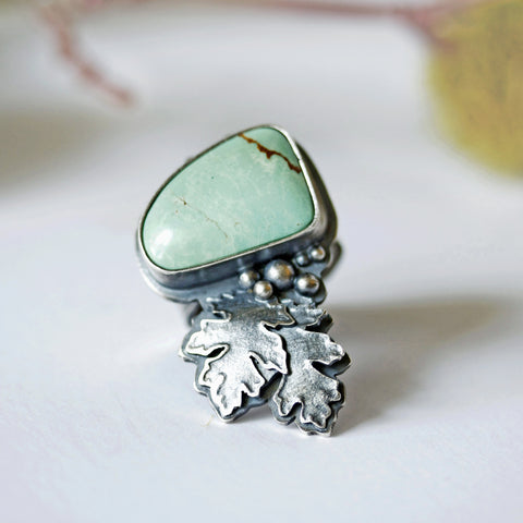 Leaf Turquoise Ring - Artisan's Bench