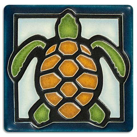 Motawi Turtle in Light Blue- 4x4