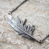 Cast Silver Feather Necklace no.4 - Artisan's Bench