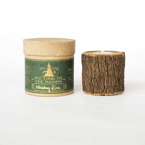 Whiskey River Bark Candle