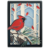 Motawi Winter Cardinals - 6x8 - Artisan's Bench