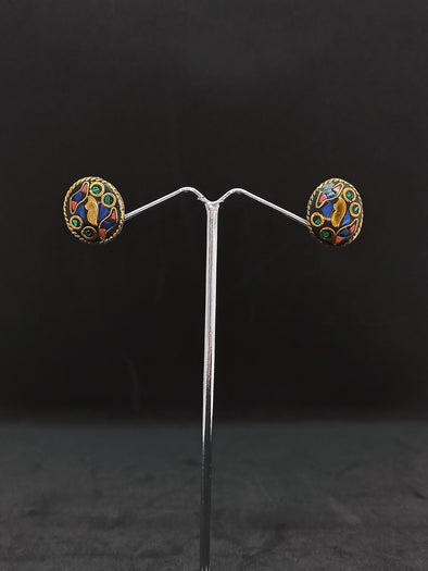 Aretes Topo Ovalado hindú PPM18 - BOUTIQUE DE LA INDIA