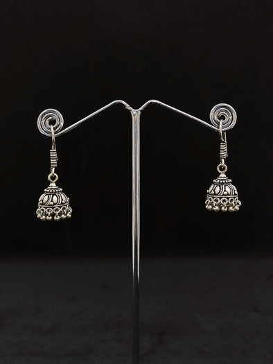 Aretes Jumka Plateado PPM17 - BOUTIQUE DE LA INDIA