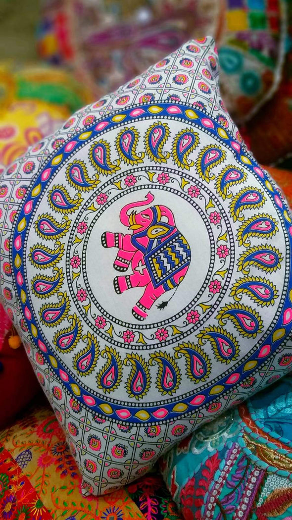 Forro para Cojin de Mandalas #13 PPM16,5 hindú, de la india - BOUTIQUE DE LA INDIA