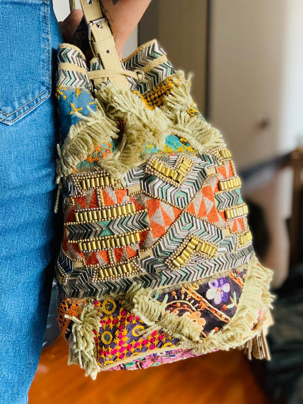 Bolso Mochila Inko árabe  PPM170 - BOUTIQUE DE LA INDIA
