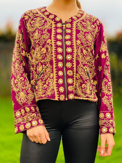 Chaqueta Bordada Shanti hindú PPM130 - BOUTIQUE DE LA INDIA