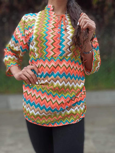 Blusa Evely Oriental #13 PPM29 - BOUTIQUE DE LA INDIA