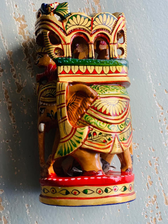 Elefante Carroza de la india  #11755 PPM - BOUTIQUE DE LA INDIA