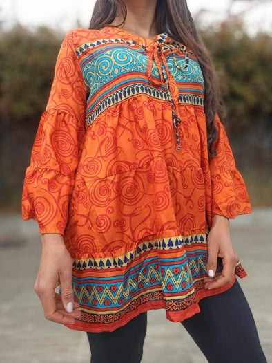 Blusa Shelly Oriental #325 PPM49 - BOUTIQUE DE LA INDIA