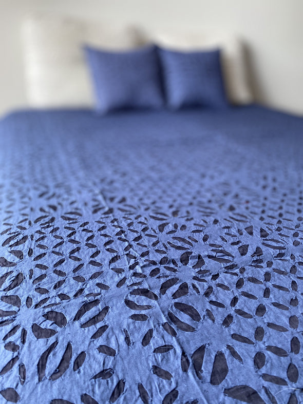 Cubrecama Cutwork hindú (265cm x 225cm) PPM275 - BOUTIQUE DE LA INDIA