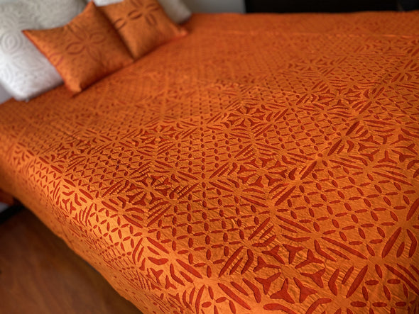 Cubrecama Cutwork oriental (265cm x 225cm) PPM275 - BOUTIQUE DE LA INDIA