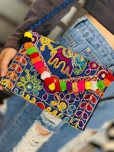 Cartera Elefantes Pompom Small de Turquía PPM22 - BOUTIQUE DE LA INDIA