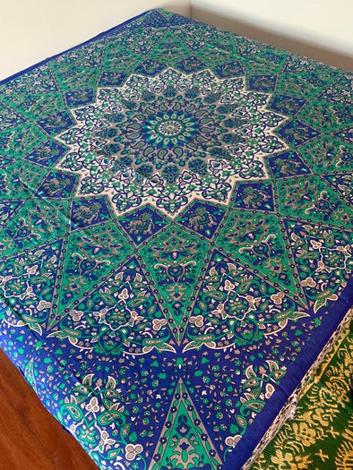 Tela Mandala Multiusos 2,10 x 2,40 (#25) PPM55 mandala de la india - BOUTIQUE DE LA INDIA