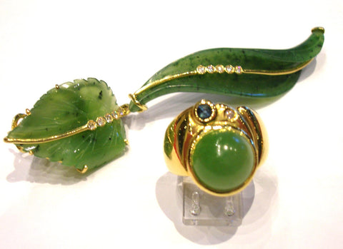 "The "" Green Leaf "" Brooch"