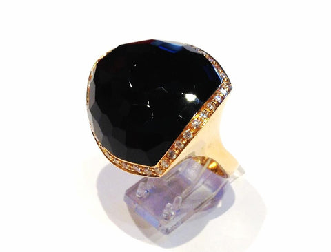 Black Onyx in Rose Gold Ring
