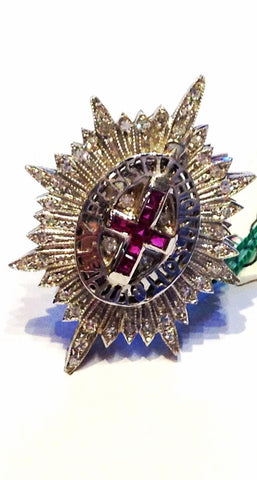 "Ancient "" Christian Cross "" Brooch"