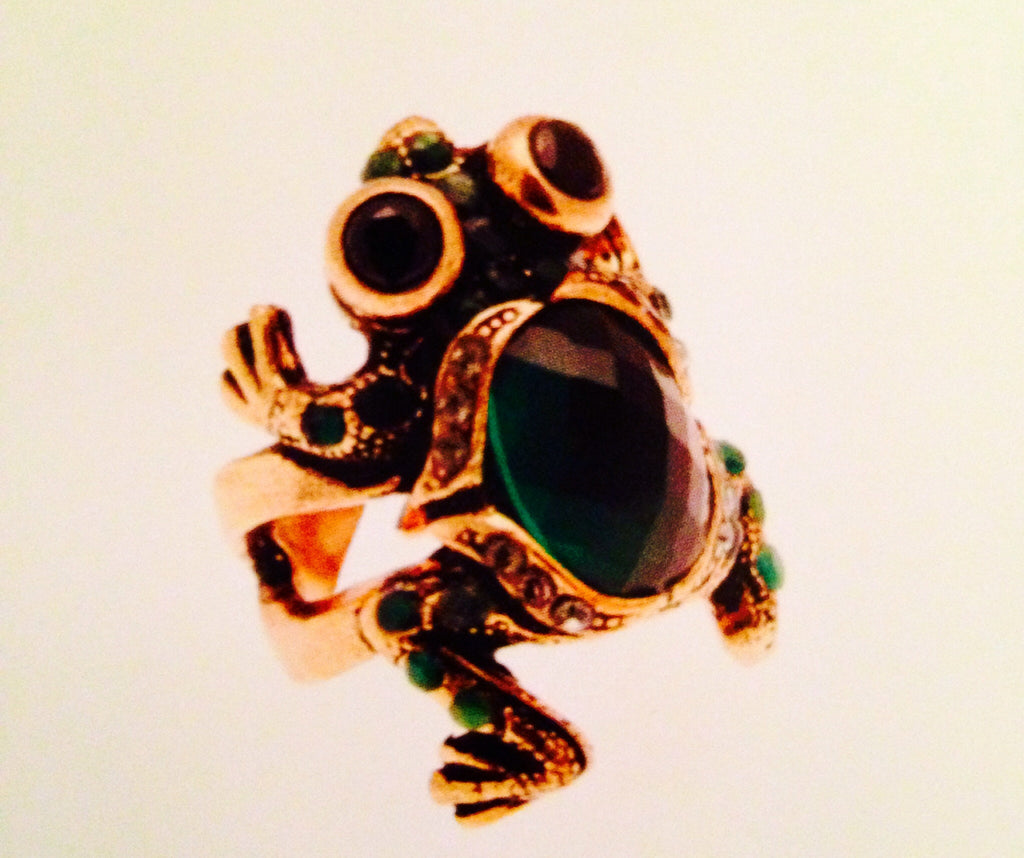 Frog With Green Quartz
