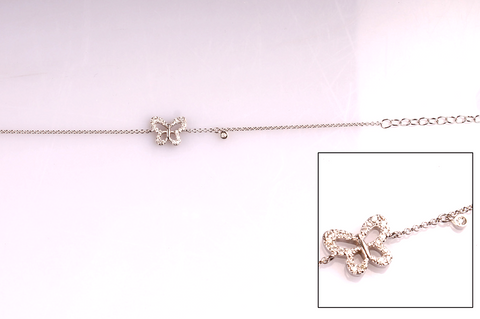 Bracelet with Butterfly Charm