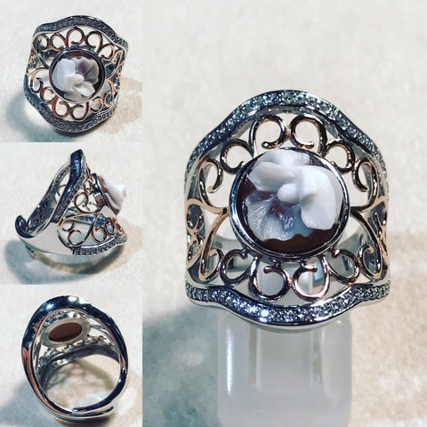 Skeleton Ring with Cameo