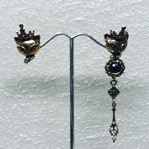 "Pendant Earrings in Bronze "" Crown "" ref. OP5055C"