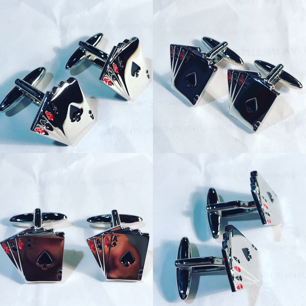 "Cufflinks "" Poker's Ace """