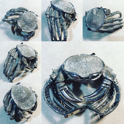 "Cuff in Silver 925 Hand Made "" The Crab"""