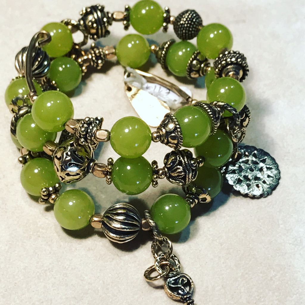 Bracelet with Light Green Agate