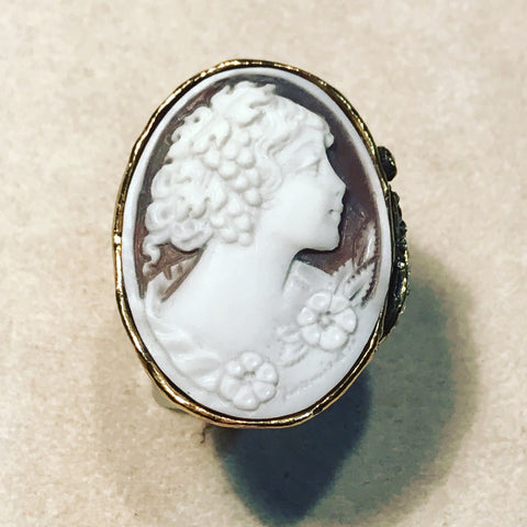 Ring with Oval Cameo