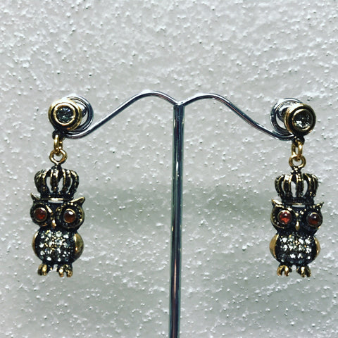 "Pendant Earrings in Bronze "" Red Owl "" ref. OP4741C"