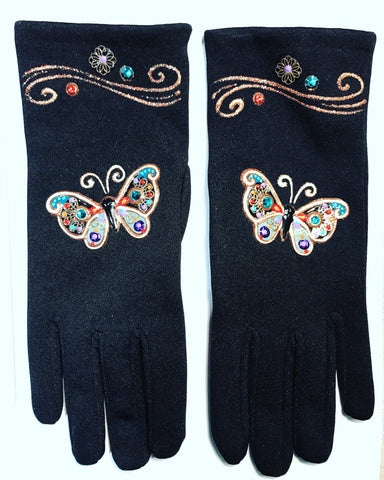 "Gloves French Style : "" Butterflies """