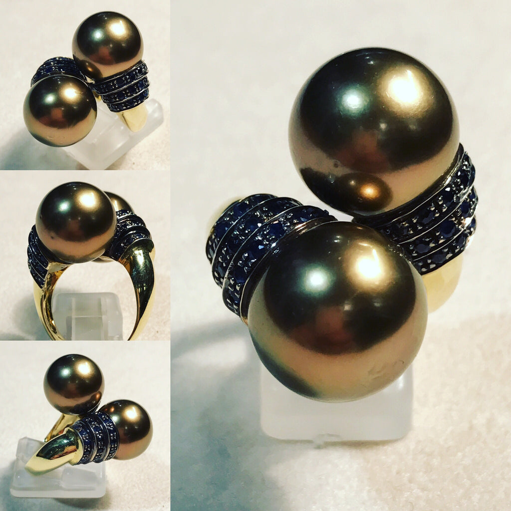 Contrarie' with Brown Pearls