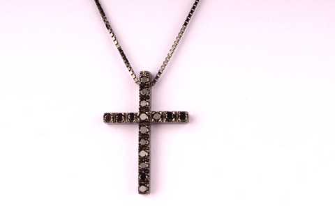 """ Cross in Black Diamonds and Black Gold """