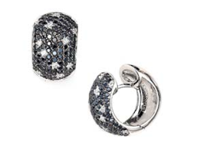 """ Black and White Pave' Earrings """