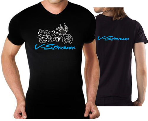 2019 Fashion T-Shirt For Suz Motorcycles Vstrom T-Shirt V Strom T-Shirt Double Side Tees