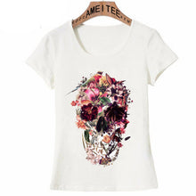 Load image into Gallery viewer, Skull Print Women T-Shirt Summer Colorful Design Casual Girl Tops Fashion Woman Punk Tees S - XXXL