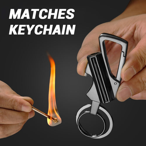 10,000 Strike Match and Bottle Opener Multitool key chain.  Great for Travel, Wilderness, Emergency Survival, Outdoors, Gifts